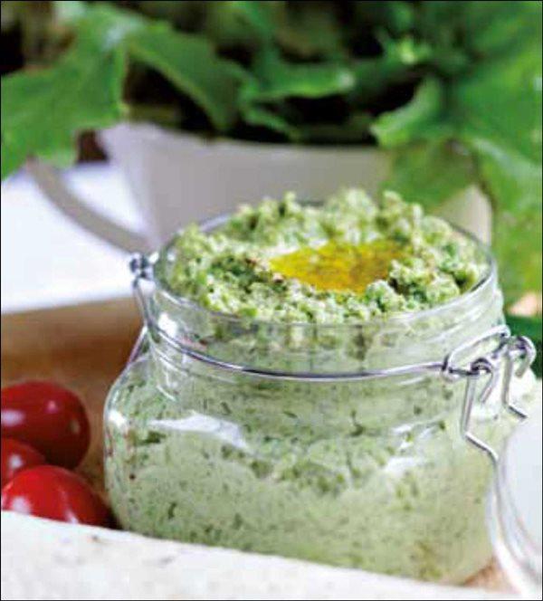 Green Pea Hummus Dip
