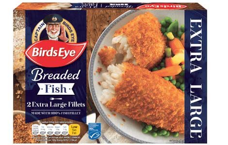 2 Extra Large Fish Fillets in Breadcrumbs