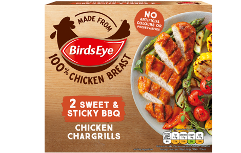 Birds Eye 2 Sweet and Sticky BBQ Chicken Chargrills