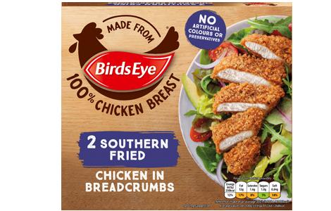 Birds Eye 2 Southern Fried Chicken in Breadcrumbs