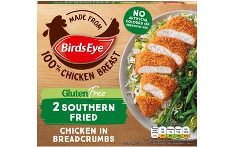 Birds Eye 2 Gluten-Free Southern Fried Chicken in Breadcrumbs