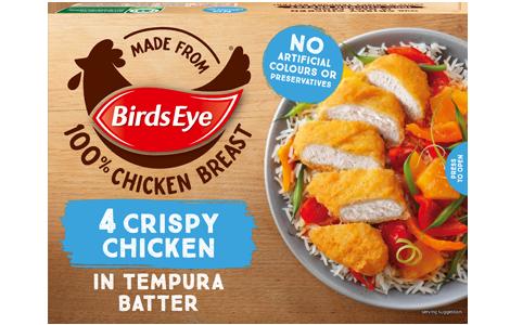 Birds Eye 4 Crispy Chicken in Tempura Batter