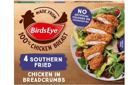 Birds Eye 4 Southern Fried Chicken in Breadcrumbs