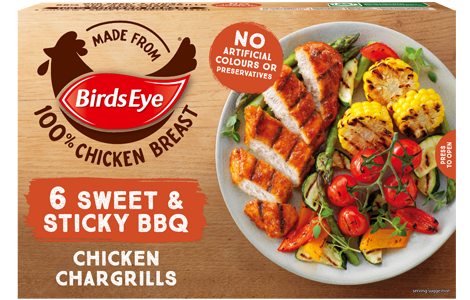 Birds Eye 6 Sweet and Sticky BBQ Chicken Chargrills