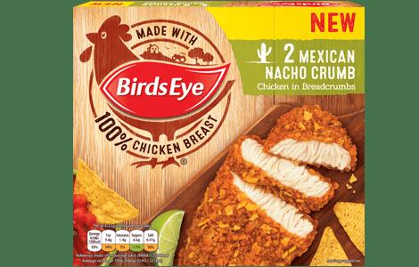 Birds Eye 2 Chicken grills in mexican nacho crumb