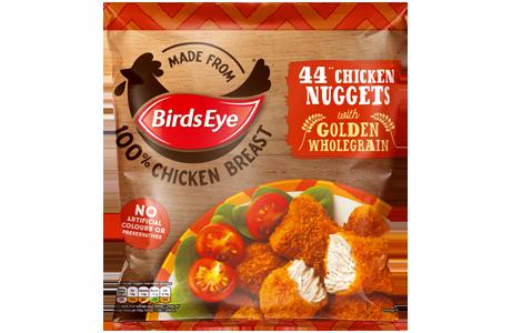 Birds Eye 44 Chicken Nuggets with Golden Wholegrain