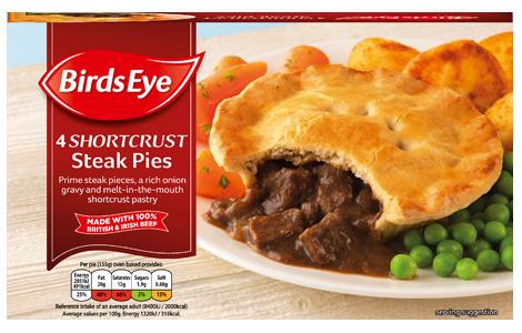 Birds Eye 4 Shortcrust Steak Pies