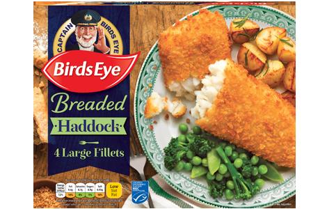Birds Eye 4 Breaded Haddock Fillets