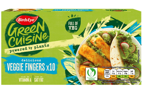 Birds Eye Green Cuisine 10 Veggie Fingers