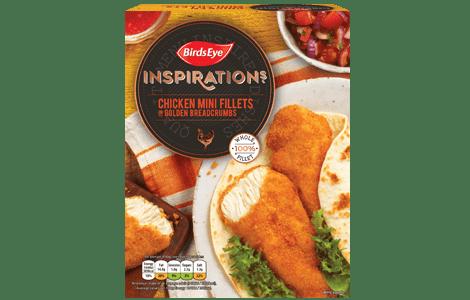 Birds Eye Inspirations Original Chicken Mini Fillets in Golden Breadcrumbs 300g