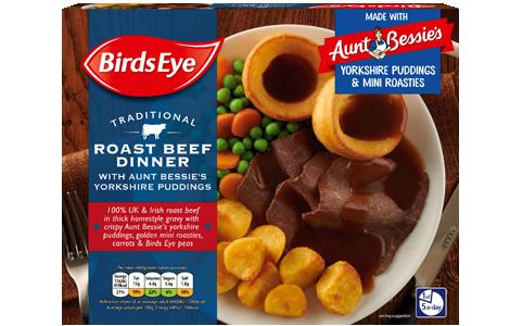 Birds Eye Roast Beef Dinner with Aunt Bessies