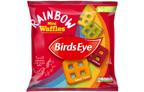 Birds Eye Rainbow Mini Waffles