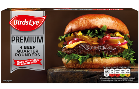 Birds Eye 4 Premium Beef Quarter Pounders