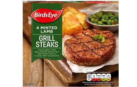 Birds Eye 4 Minted Lamb Grill Steaks