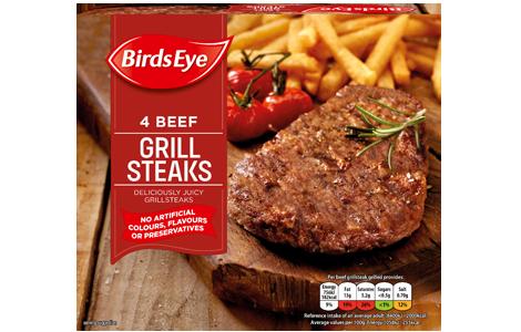 Birds Eye 4 Beef Grill Steaks