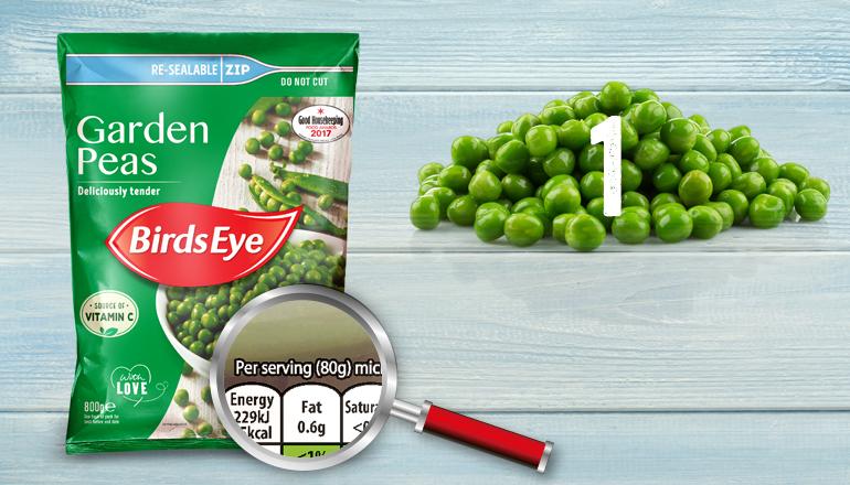 Garden Peas Nutritional Portion Info