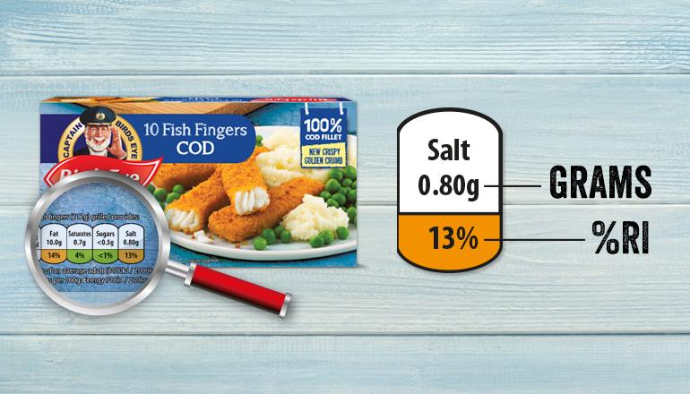 Fishfingers nutritional info 2