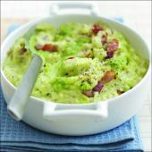 bowl of pea guacamole