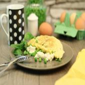 pea omelette