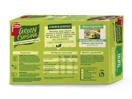 paquete de falafel green cuisine por detrás