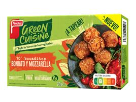 Paquete boniato y mozzarella delante Green Cuisine