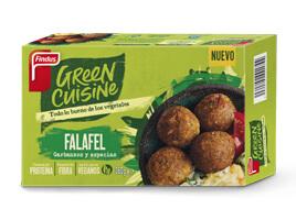 paquete de falafel green cuisine por delante