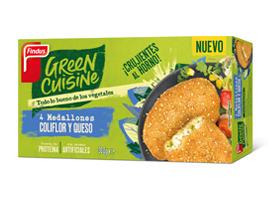 Medallones de coliflor y queso Green Cuisine Findus