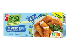 Paquete varitas tipo pescado delante Green Cuisine
