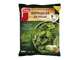 Espinacas en hoja Findus 800 g
