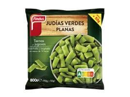 Paquete judias verdes planas delante Findus