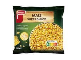 Paquete maíz dulce delante Findus