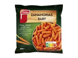 Paquete zanahorias baby delante Findus