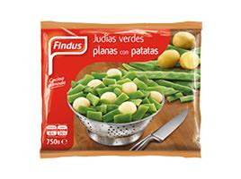 Judías planas verdes con patatas Findus