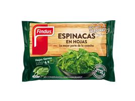 Espinacas en hojas congeladas Findus
