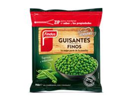 Nuevos guisantes finos congelados Findus 268 x 200