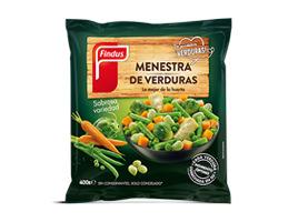 paquete de menestra de verduras findus