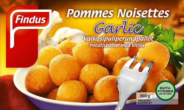 Pommes Noisettes Garlic perunapallot
