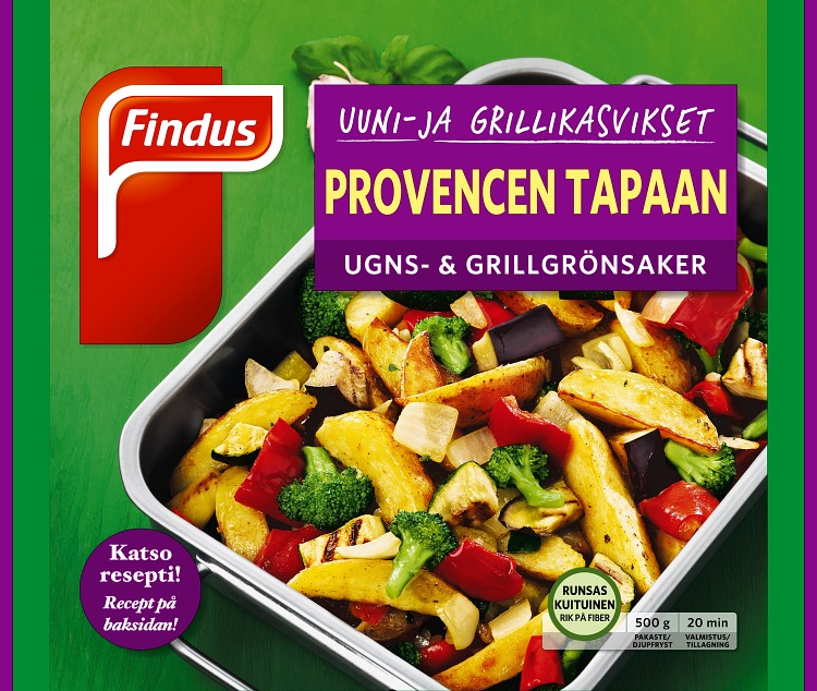 Uuni- ja grillikasvikset Provence