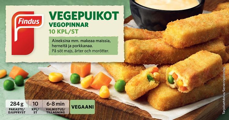 vegaaniset vegepuikot
