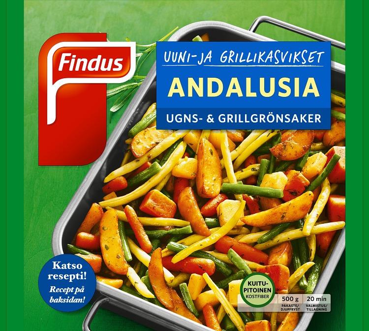 Uuni ja grillikasvikset Andalusia