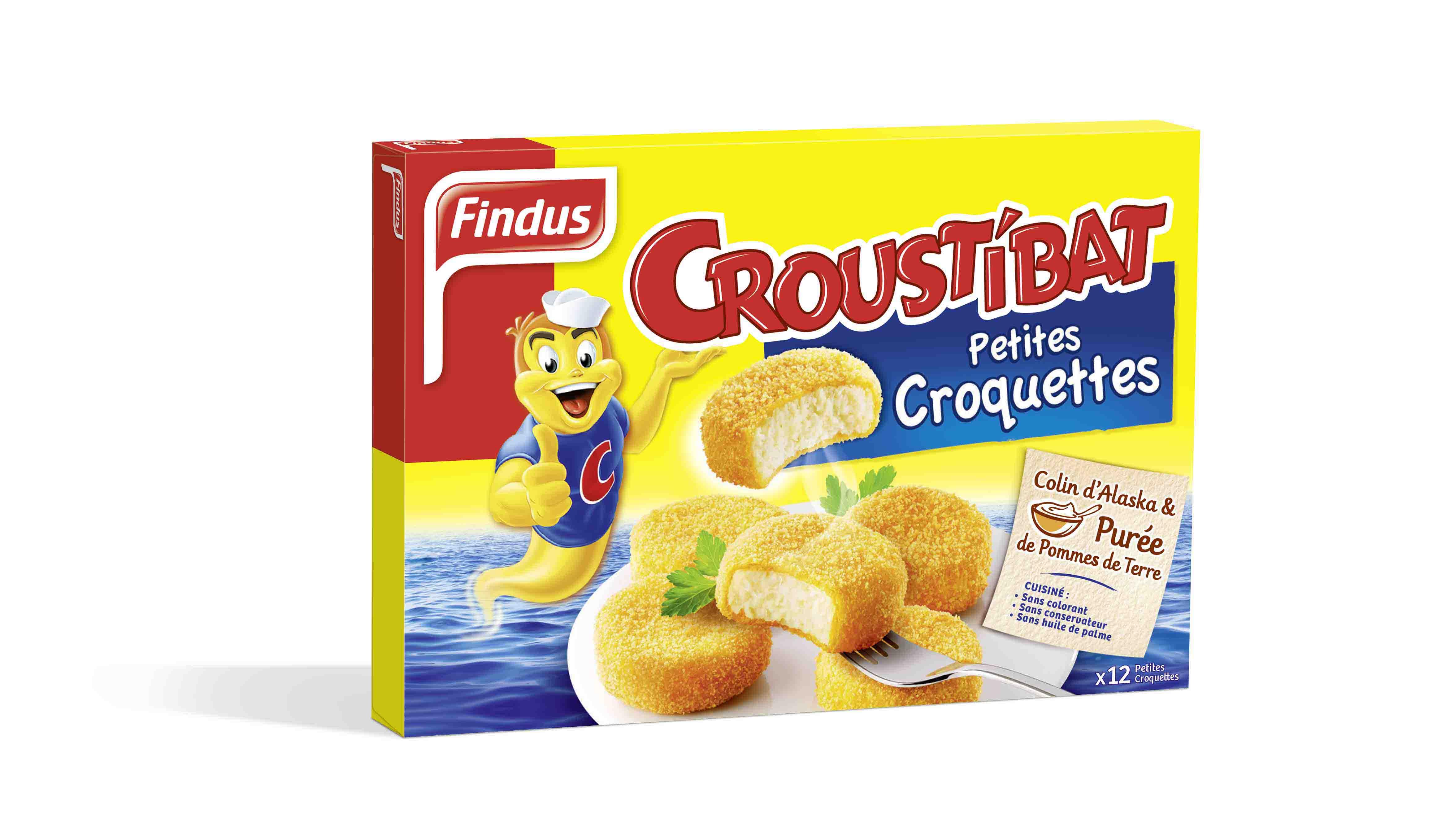 Findus Croustibat poisson pane petites galettes
