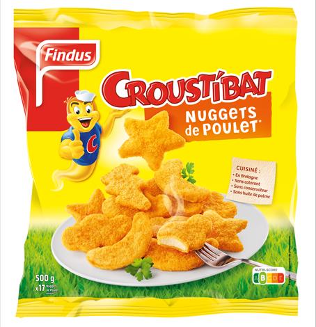 Paquet de nuggets au poulet Croustibat Findus