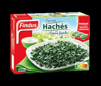 Épinards Haches Crème Boite