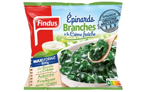 Epinards Branches Creme Sachet