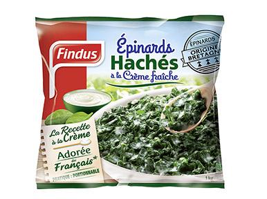 Epinards Haches Creme Sachet