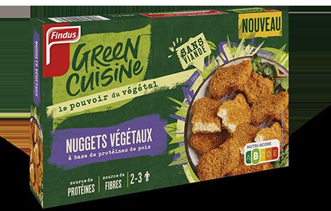 1 boite de Nuggets végétaux à base de protéine de pois Findus Green Cuisine