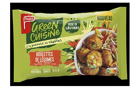 1 sachet de boulettes de légumes Green Cuisine Findus