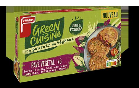 Paquet de pavé végétal à la betterave Green Cuisine Findus