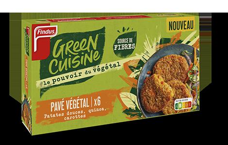 Paquet de pavé végétal à la patate douce Green Cuisine Findus