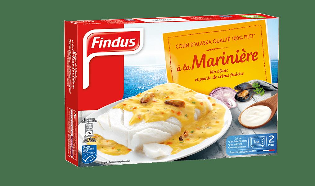 Findus colin mariniere poisson cuisine recette msc